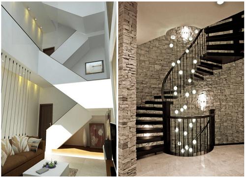 Thiết kế cầu thang nhà lệch tầng