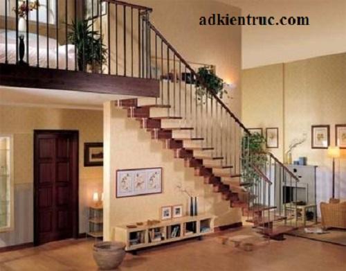 Các kiểu cầu thang gỗ thanh chắn