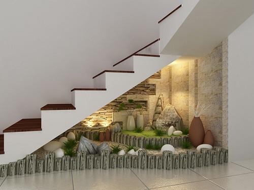 Trang trí gầm cầu thang theo phong thủy
