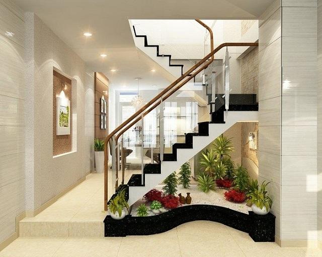 ý tưởng trang trí gầm cầu thang