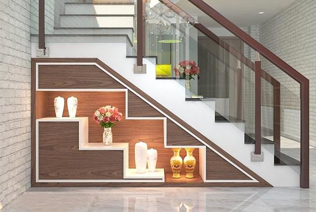 ý tưởng trang trí gầm cầu thang 2