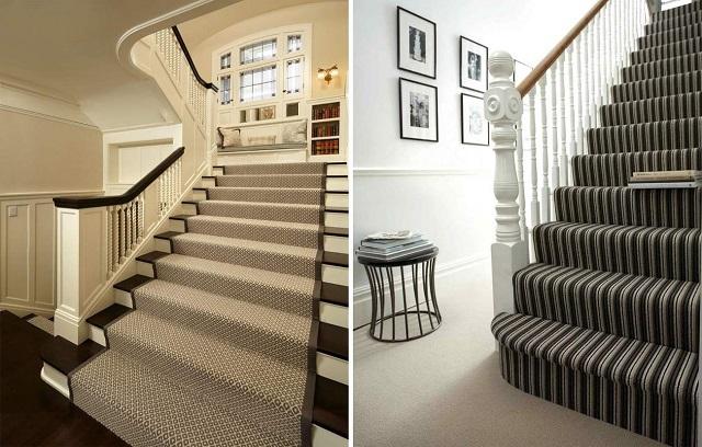 ý tưởng trang trí cầu thang bằng thảm