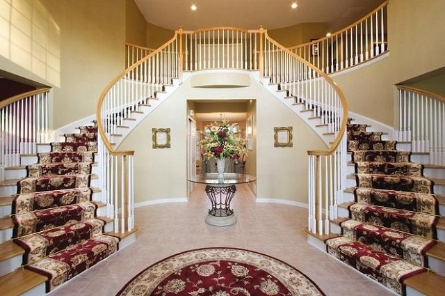 ý tưởng trang trí cầu thang bằng thảm 2