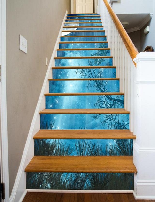 ý tưởng trang trí từng bậc cầu thang