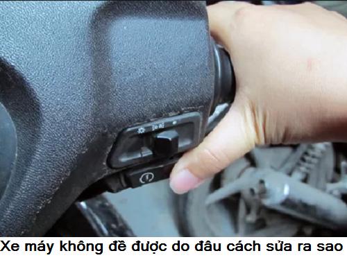 xe máy không đề được