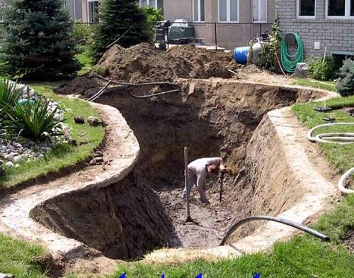 cách xây bể cá xi măng ngoài trời