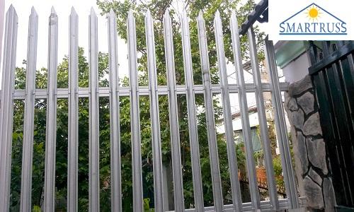 hàng rào thép hộp mạ kẽm
