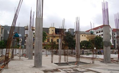 cột nhà 2 tầng