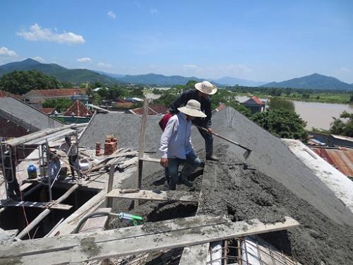 Quy trình đổ mái nhà