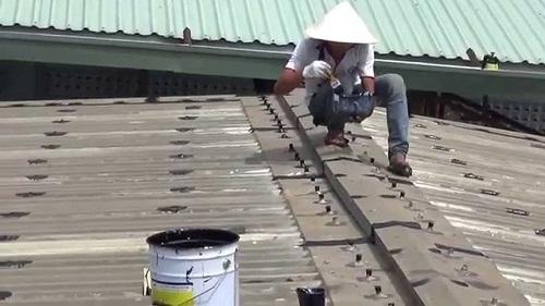 chống dột mái tôn xi măng