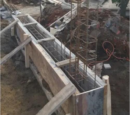 cách xây hàng rào luới b40