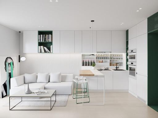 Thiết kế nội thất phòng bếp theo phong cách tối giản