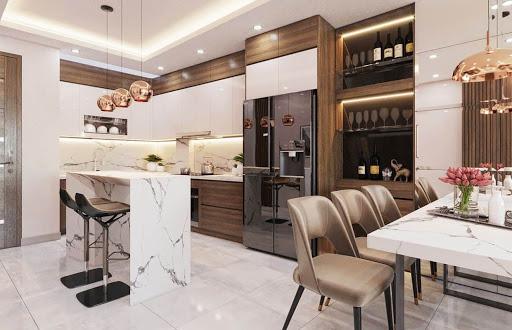Thiết kế phòng bếp chung cư đẹp