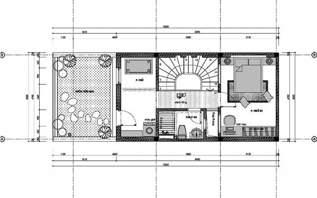 Bản vẽ thiết kế nhà 3 tầng diện tích 6x10m 3