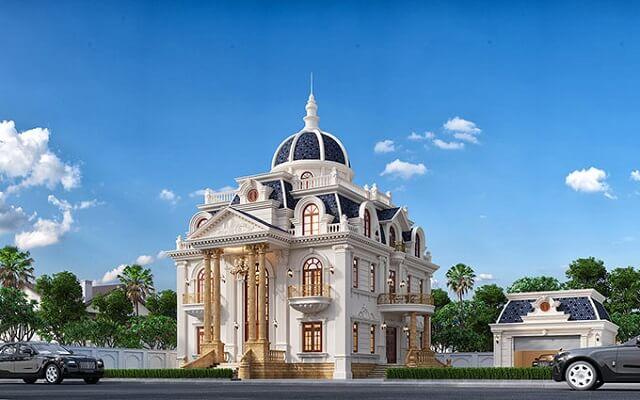 Biệt thự kiểu Pháp 2 tầng cổ điển 2