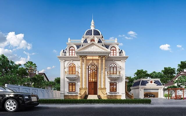 Biệt thự kiểu Pháp 2 tầng cổ điển