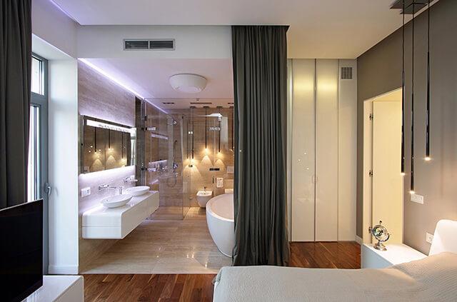 Vị trí cửa nhà vệ sinh