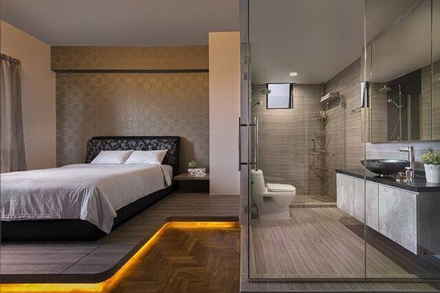 Mặt nền của nhà vệ sinh
