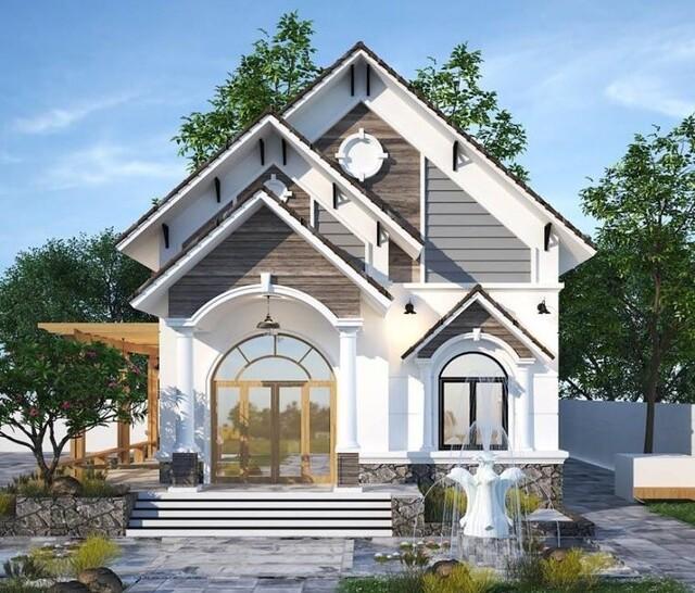 Cách trang trí mặt tiền nhà mái thái