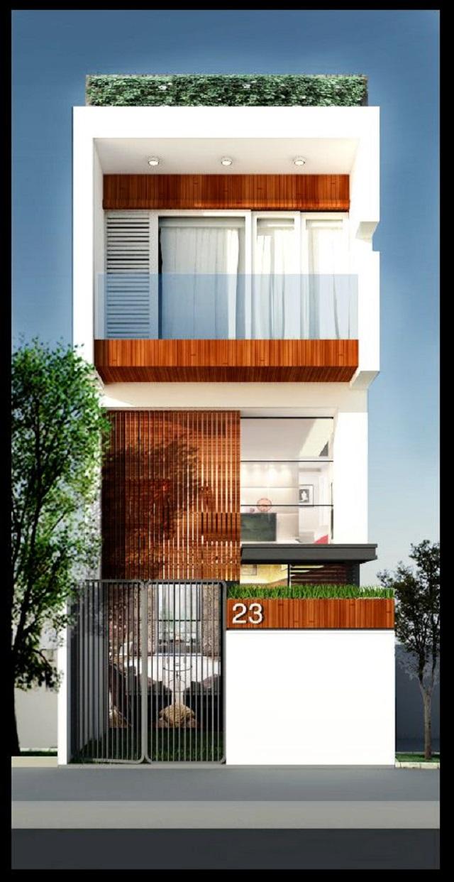Mặt tiền thiết kế nhà ngang 6m dài 10m 2