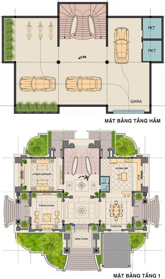 mẫu biệt thự 2 tầng 1 tum 2
