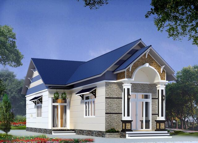 Mẫu nhà mái thái đẹp 4