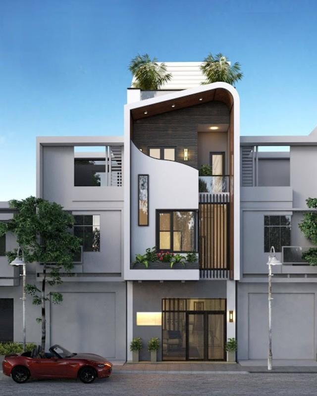 nhà chiều rộng 7m phong cách hiện đại
