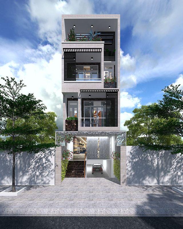 nhà phố chiều rộng 7m kết hợp cho thuê văn phòng