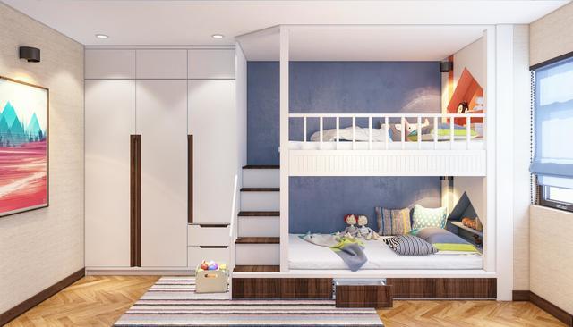 Thiết kế phòng ngủ cho 2 bé trai 1