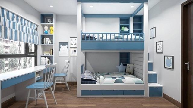 Thiết kế phòng ngủ cho 2 bé trai 2