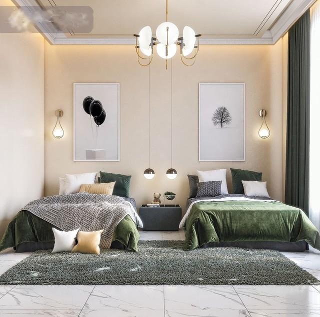 Thiết kế phòng ngủ cho 2 bé trai 3