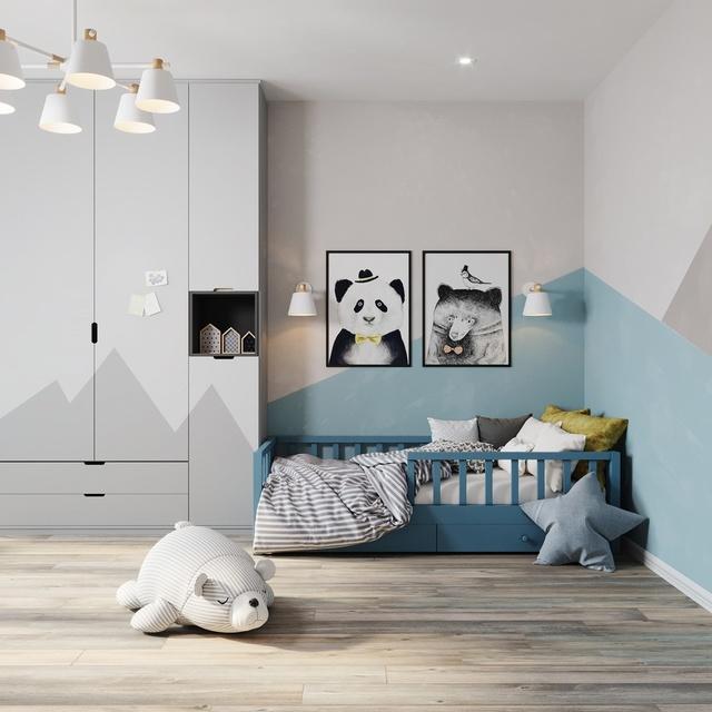 Thiết kế phòng ngủ nhỏ cho bé trai 4 đến 6 tuổi 1