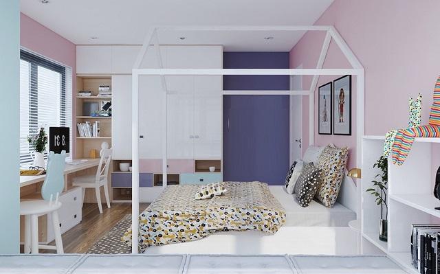 Mẫu phòng ngủ bé gái 15 tuổi diện tích nhỏ cho chung cư 3