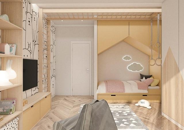 Mẫu phòng ngủ bé gái 15 tuổi cho nhà phố 2