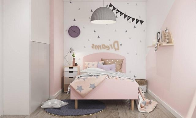 Mẫu phòng ngủ bé gái 15 tuổi cho nhà phố 3