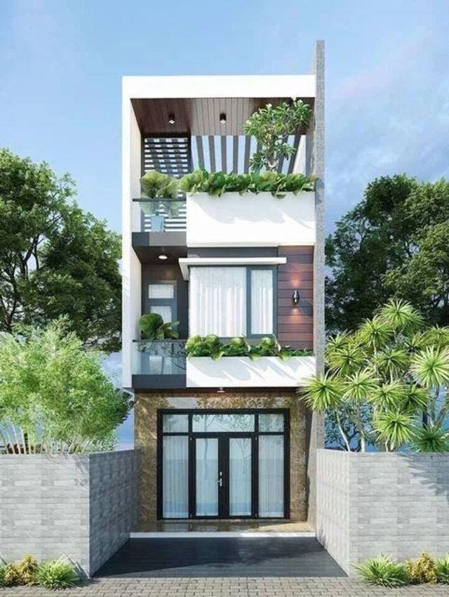 mẫu thiết kế nhà 3 tầng 40m2-1