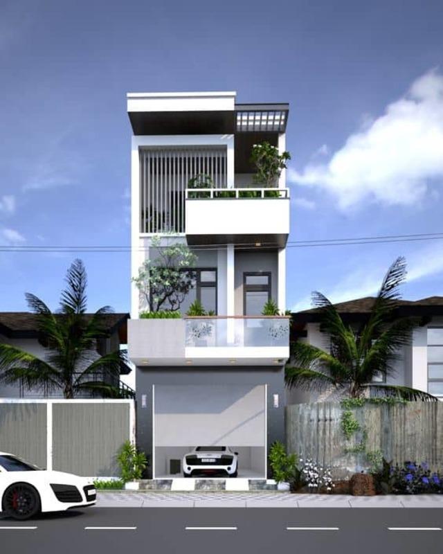mẫu thiết kế nhà 3 tầng 40m2-2