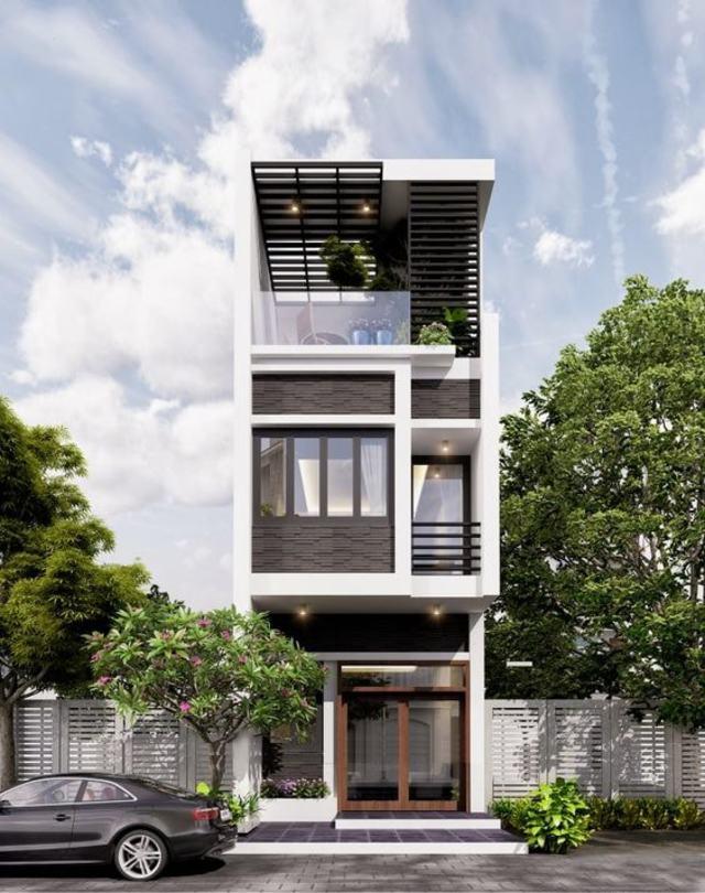 mẫu thiết kế nhà 3 tầng 40m2-3
