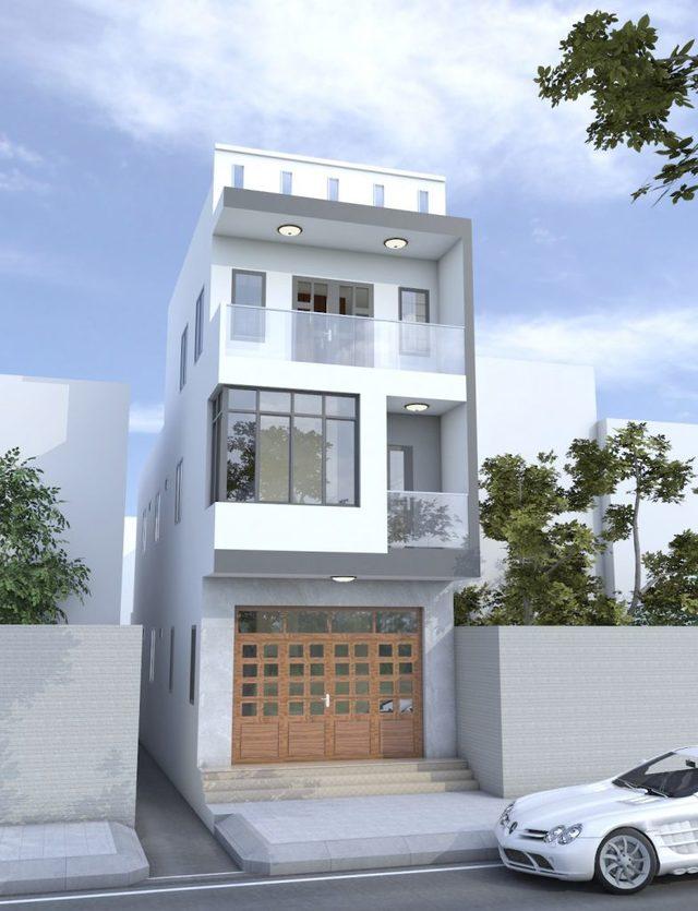 mẫu thiết kế nhà 3 tầng 40m2-4