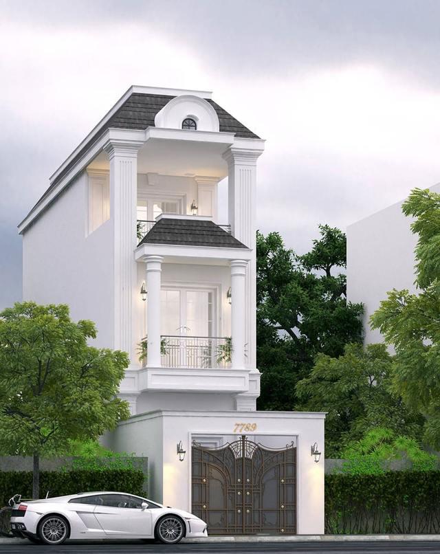 mẫu thiết kế nhà 3 tầng 40m2-5