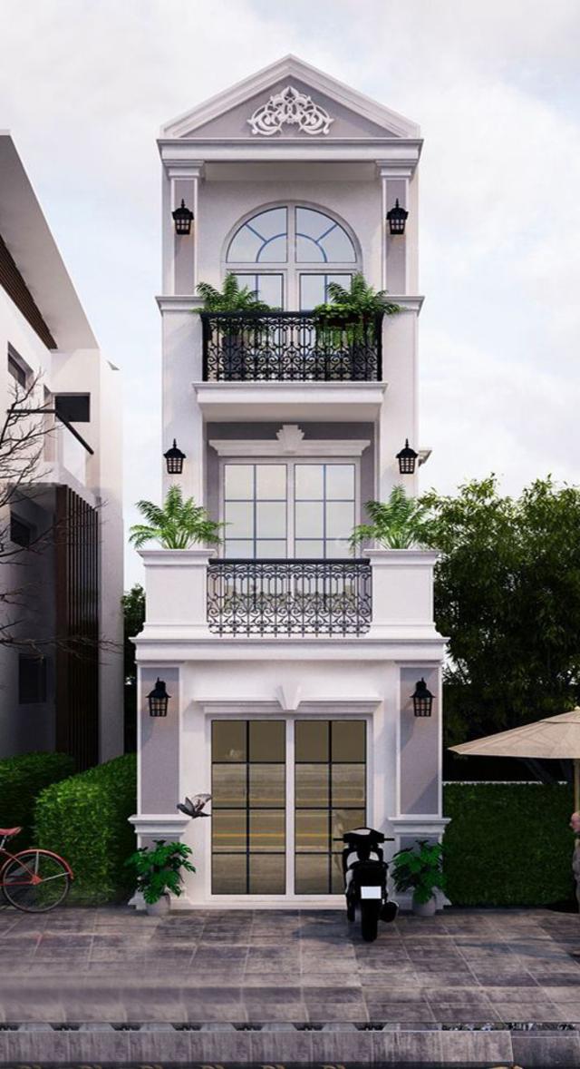 mẫu thiết kế nhà 3 tầng 40m2-6