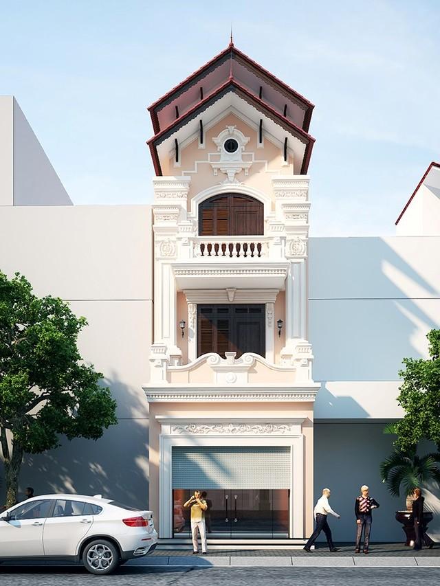 mẫu thiết kế nhà 3 tầng 40m2-7