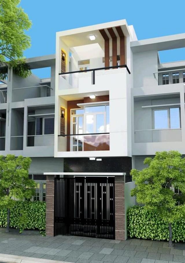 mẫu thiết kế nhà 3 tầng 40m2-9