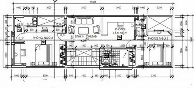 Mẫu thiết kế nhà ống 2 tầng với chi phí rẻ 2