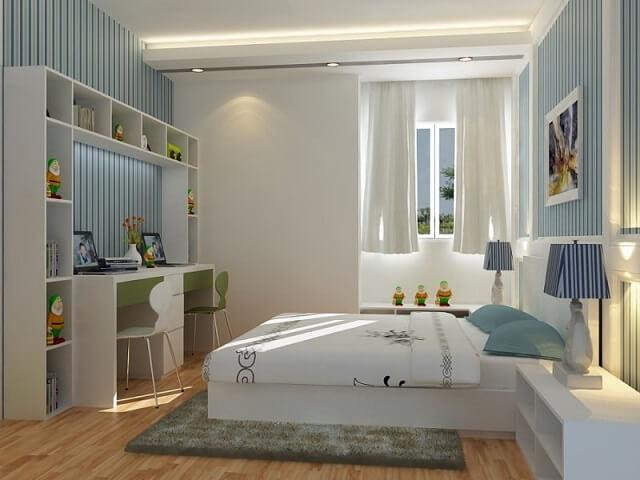 Thiết kế phòng ngủ nhỏ theo phong cách thiết kế của ngôi nhà
