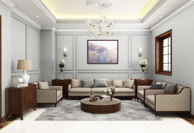 phối cảnh nội thất phòng khách theo kích thước