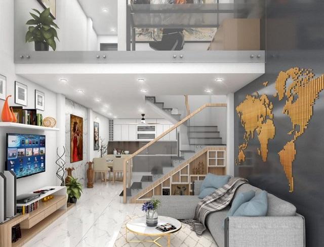 Thiết kế nhà 4x10m có tầng lửng với 7 phòng ngủ 2