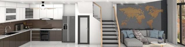 Thiết kế nhà 4x10m có tầng lửng với 7 phòng ngủ 3