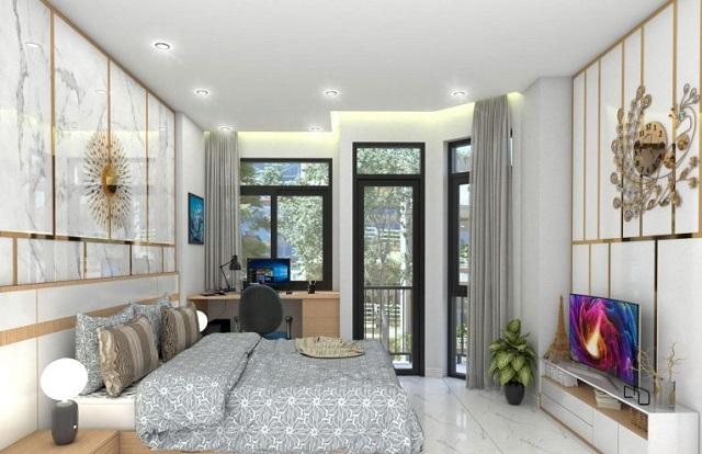 Thiết kế nhà 4x10m có tầng lửng với 7 phòng ngủ 5