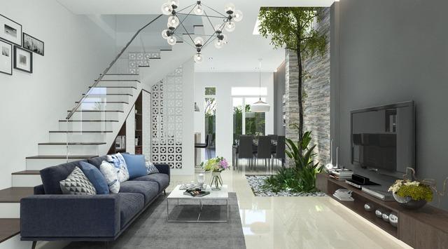 Thiết kế không gian phòng khách 1